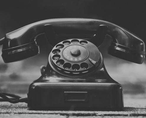 ouderwetse telefoon
